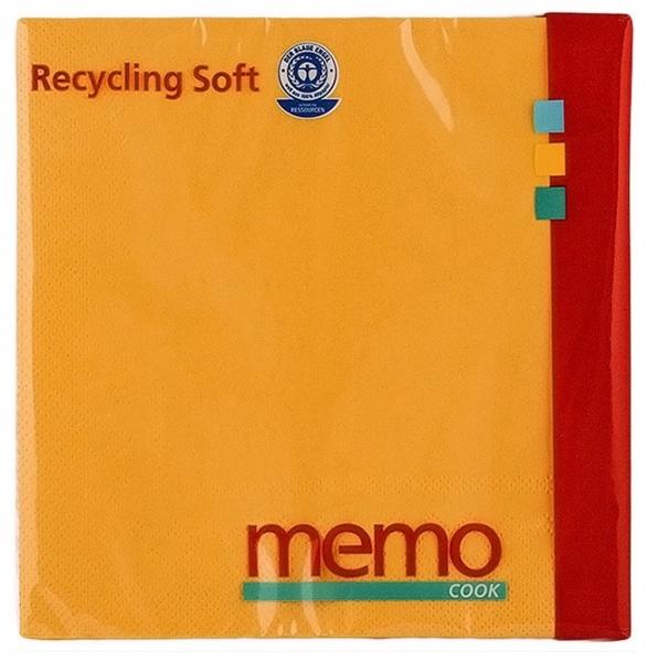 Memo - Servetele soft din hartie reciclata cu 3 straturi, 20 buc 0