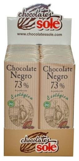 Mini tableta ciocolata neagra BIO 73% cacao Chocolates Sole, 25 g 0