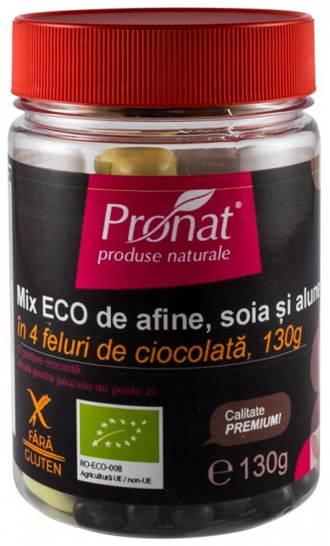 Mix BIO de afine, soia si alune in 4 feluri de ciocolata, 130g 0