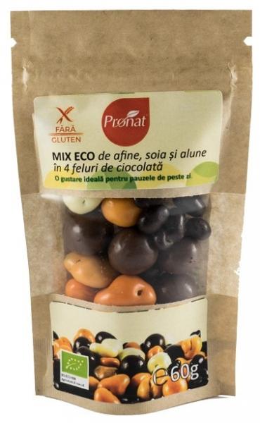Mix BIO de afine, soia si alune in 4 feluri de ciocolata, 60g 0