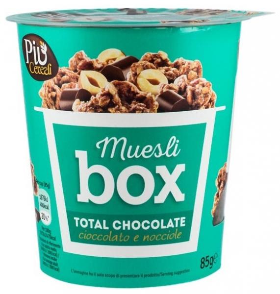 Muesli BOX – Mix de cereale crocante cu ciocolata, cu bucati de alune si ciocolata cu lapte, 85 gr [0]