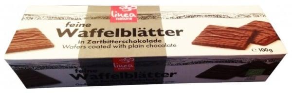 Napolitane Bio trase in ciocolata neagra, 100 g [0]