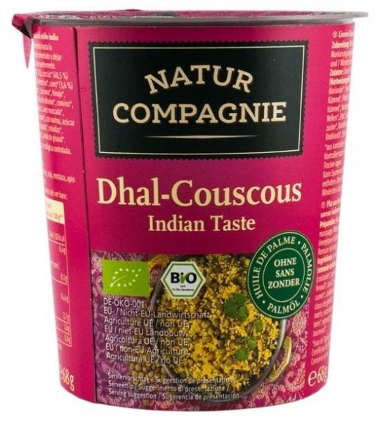 Mancare bio la pahar Dhal-Cuscus gust indian 0