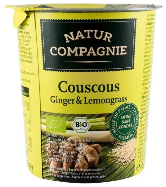 Mancare la pahar Cuscus Ginger  Lemongrass, BIO 0