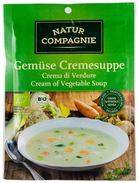 Supa crema de legume, bio, 43g 0