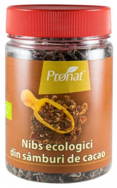 Nibs Bio din samburi de cacao, 130 g [0]