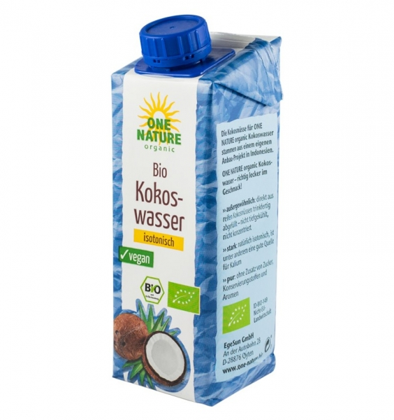 ONE NATURE – Apa de cocos BIO, 250ml