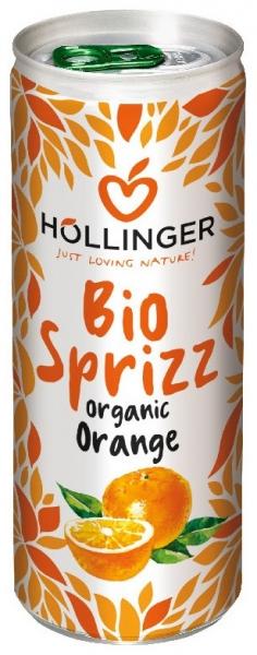 Suc de portocale Bio Hollinger 250 ml, Carbogazos 0