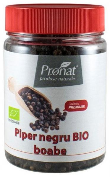 Piper negru Bio boabe, 140 g 0