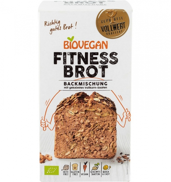 Premix bio pentru paine Fitness, fara gluten, 330g [0]