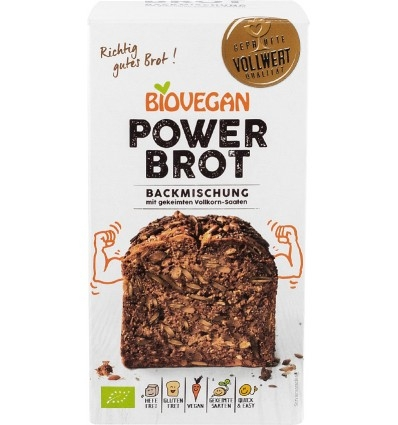 Premix bio pentru paine Power, fara gluten, 350g 0