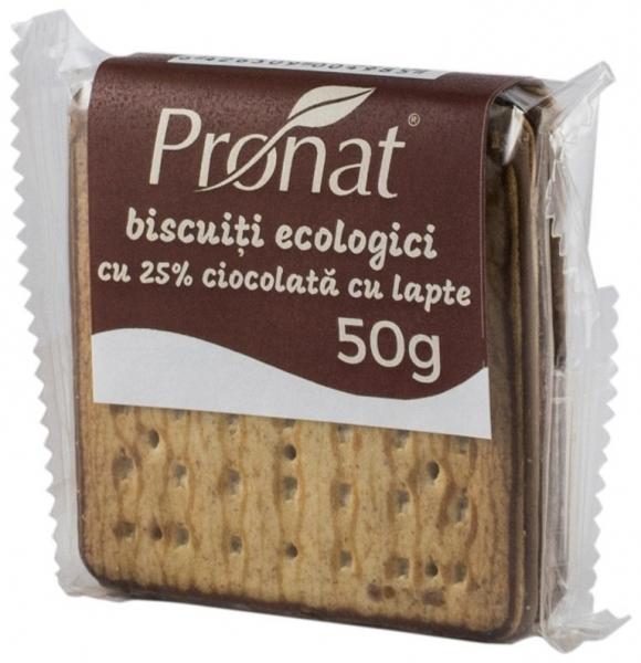 biscuiti bio cu 25% ciocolata cu lapte, 50g 0