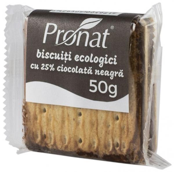 biscuiti bio cu 25% ciocolata neagra, 50g 0