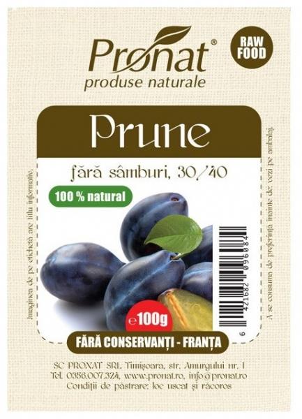 Prune fara conservanti si samburi, 100 g [0]
