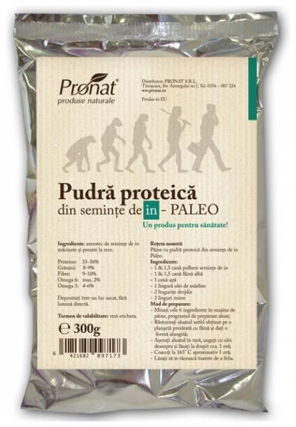 Pudra proteica din seminte de in PALEO,  300 g 0