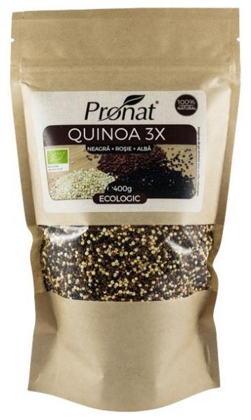 QUINOA 3X - amestec BIO de quinoa (neagra, rosie si alba), 400g 0