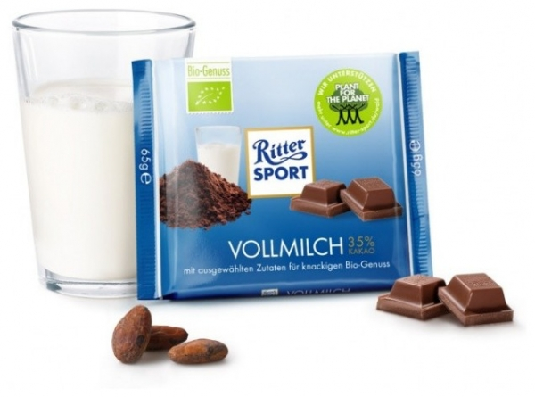 Ciocolata BIO cu lapte, 35% cacao, 65 g 0