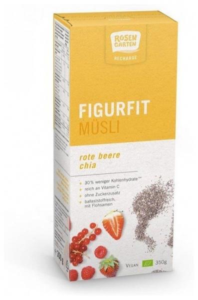 Rosen Garten - Musli Fit Bio cu chia si fructe rosii, 350g