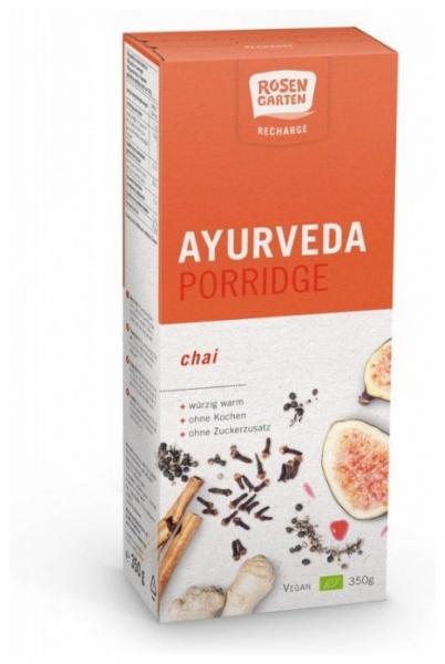 Rosen Garten - Tarate fine de ovaz Bio  (Porridge) cu Chai, 350g 0