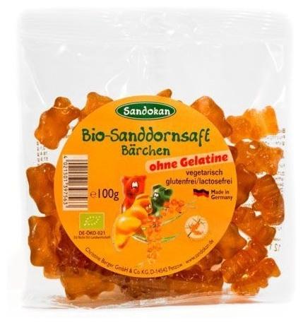 Sandokan - Ursuleti Bio din suc de catina, 100g [0]