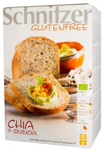 Paine bio fara gluten cu seminte de chia si faina integrala de quinoa, 500 gr 0