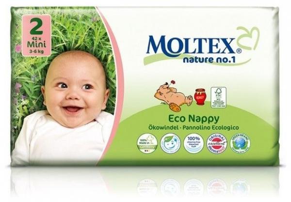 Scutece ECO pentru bebelusi (3-6kg), nr. 2, pachet 42 buc 0