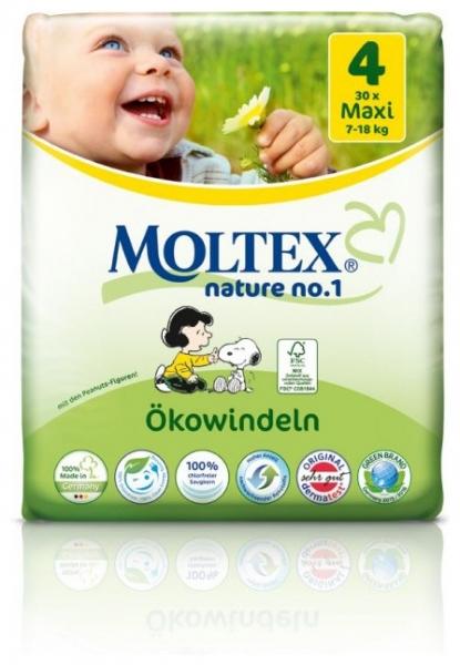 Scutece ECO pentru bebelusi (7-18kg), nr. 4, maxi, pachet 30 buc 0