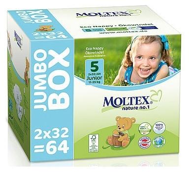 Scutece ECO pentru copii (11-25kg), nr. 5, Jumbo Box- 64 buc 0