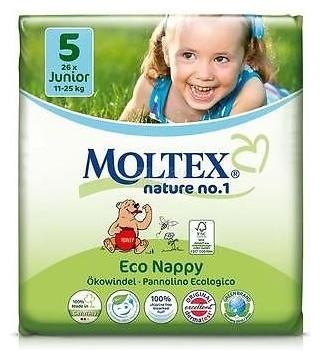 Scutece ECO pentru copii Junior (11-25kg), nr. 5, pachet 26 buc 0