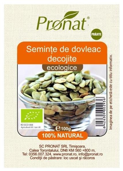 Seminte de dovleac Bio prajite, 100g 0