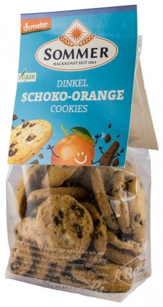 Biscuiti bio din grau spelta cu ciocolata amaruie si ulei de portocale, Demeter, 150gr [0]