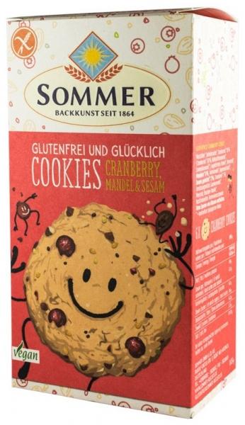 Biscuiti BIO fara gluten cu merisor, migdale, susan si chia, 125g 0