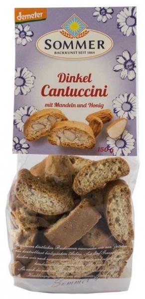 Cantuccini bio crocant din grau spelta cu migdale si miere, Demeter 150 gr 0