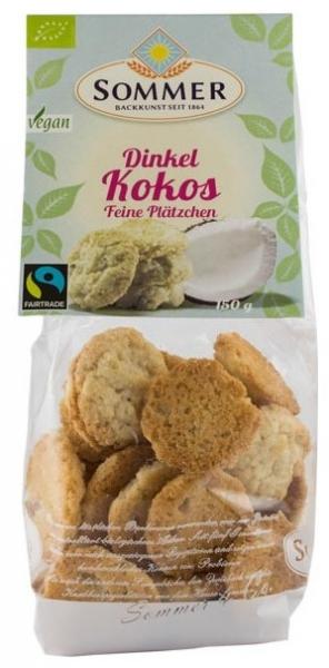 Dinkel Kokos – mini fursecuri bio din grau spelta cu cocos, Fairtrade, 150gr 0