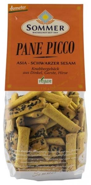 Panne Picco Asia cu susan negru – mini grisine bio din alac, orz si mei, Demeter 150 gr 0