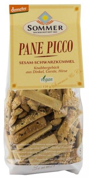 Panne Picco – mini grisine bio cu susan si chimen negru, Demeter 150 gr 0