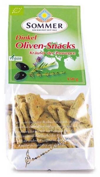 Snack bio din faina de grau spelta cu masline si ierburi de Provence, 150 gr 0