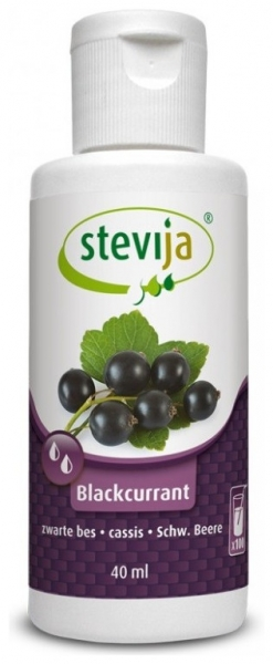 Stevia cu COACAZE Negre 40ml Numai 0,4 kcal/ pahar! 0