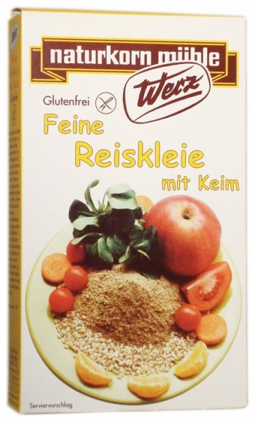 Tarate fine de orez cu germeni, fara gluten, 200 g 0