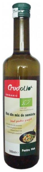 Ulei Bio din mix de seminte, ideal pentru prajit, Crudolio - 500 ml [0]