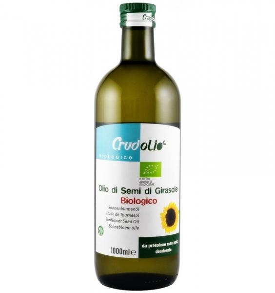 Ulei ecologic din seminte de floarea soarelui Crudolio - 1000 ml 0