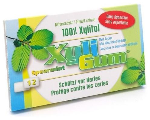 V-TALITY - Guma de mestecat spearmint, 100% xylitol, cu menta, 12 buc 0