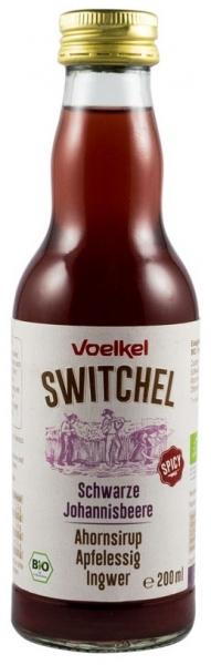 SWITCHEL bautura racoritoare enzimatica bio cu coacaze negre, sirop de artar, otet de mere si ghimbir, 200ml 0