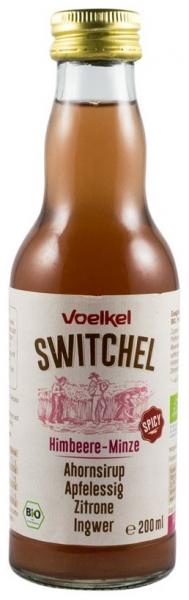 .VOELKEL -SWITCHEL bautura racoritoare enzimatica bio cu zmeura si menta, sirop de artar, otet de mere, ghimbir si lamaie, 200ml [0]