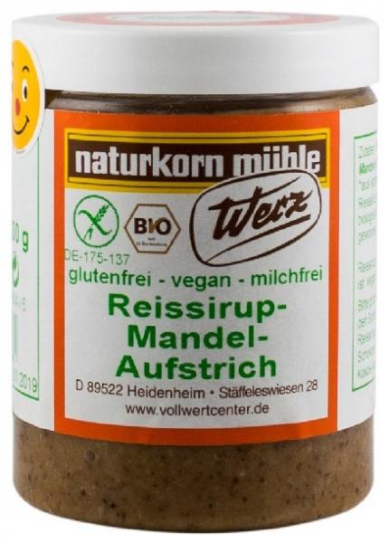 Werz – Crema BIO din sirop de orez cu migdale, 300g 0