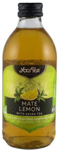 Preparat BIO din ceai mate si lamaie cu ceai verde, 330 ml 0