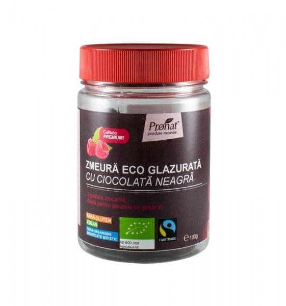Zmeura glazurata cu ciocolata neagra, 100 gr 0