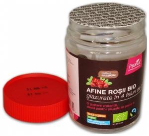 Afine rosii BIO glazurate in 4 feluri de ciocolata, 130 gr1