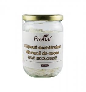 Chipsuri deshidratate din nuca de cocos, Raw Bio, 110 g0