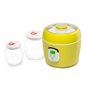 Iaurtiera-fermentator Oursson FE0205D/GA, 2 vase de sticla, 1L si 2L, Afisaj LED,  Verde0